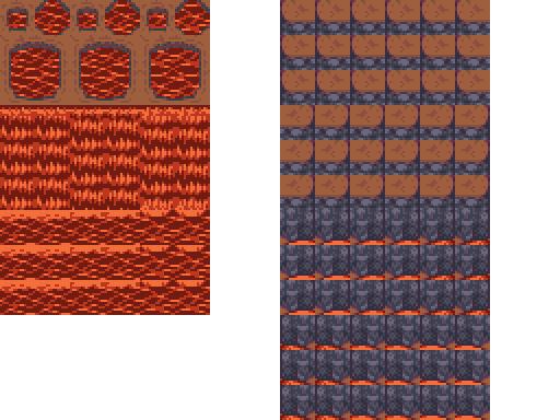 Bibliothèque des ressources VX Ace Tilesets Lava_waterfall_A1_2x
